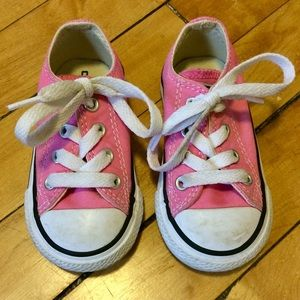 Pink low top Converse Chuck Taylor, toddler size 4